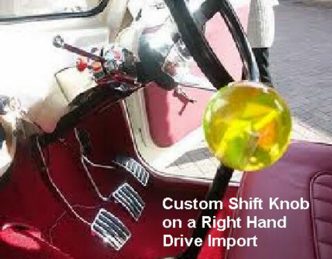Custom Shift Knob On A Vintage RHD Euro Hotrod